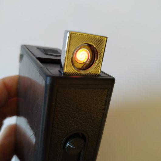 портсигар с зажигалкой USB