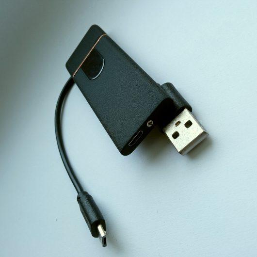 Ультратонкая USB-зажигалка зарядка кабель спираль
